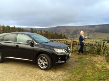 I think Karen could get used to driving to the top of hills !
